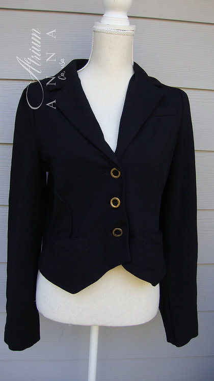 Marc by Marc Jacobs Black Rayon Blend Fitted Blazer, L