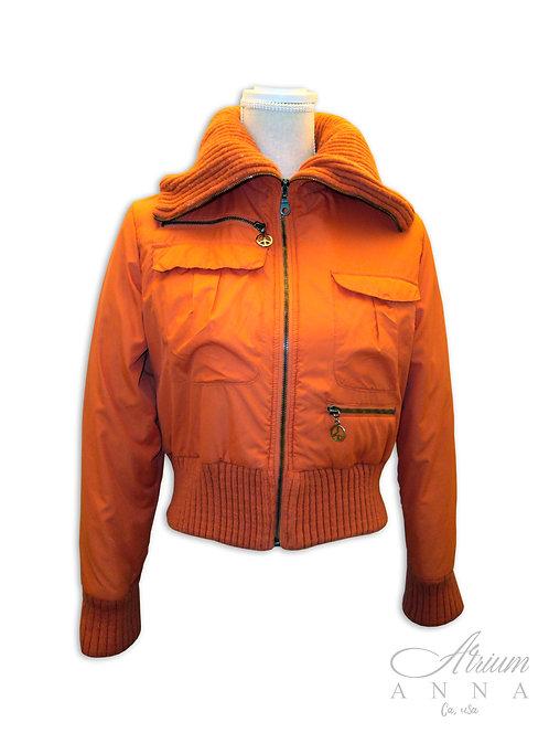 """Roccobarocco Orange """"Peace"""" Jacket, M"""