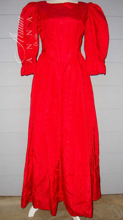 Palomar Creations Red Long Gown in the Style of the 80s