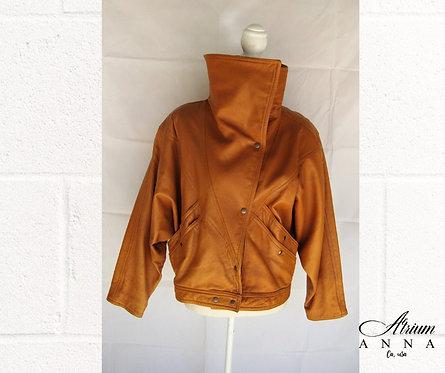 Charivari New York Maxima Vintage 80s Camel Brown Leather Jacket