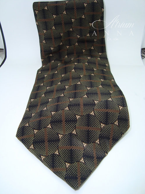 Stafford Executive JC Penney's Brands Vintage Brown Tone Silk Tie