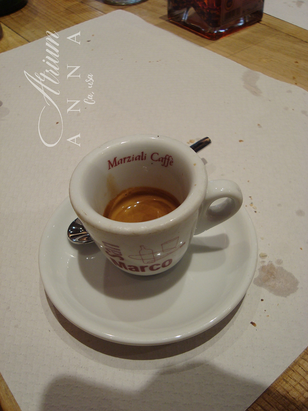 A cup of coffee in Naples.