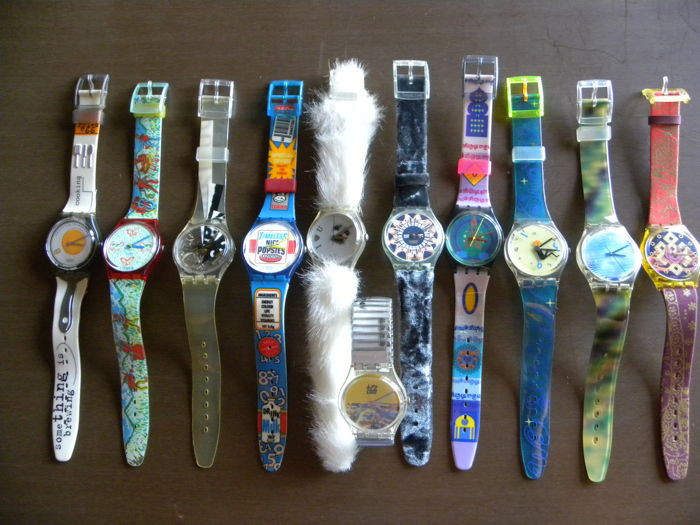Swatch watches collection from the 90s