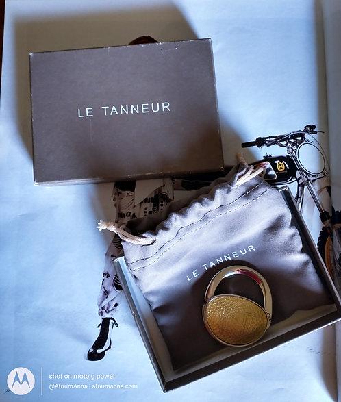 Le Tanneur monogram engraved elegant magnet purseholder