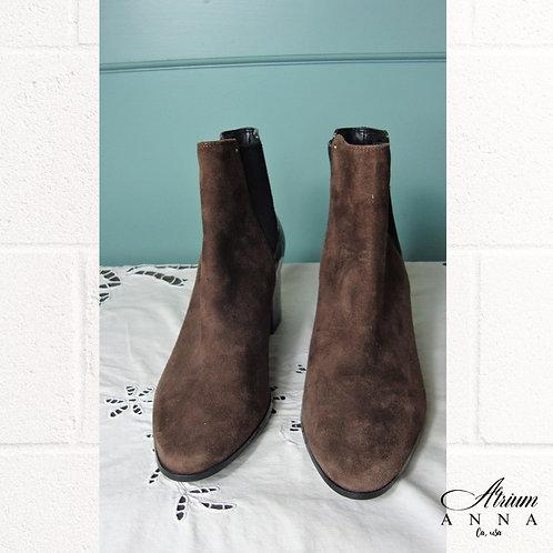 Calvin Klein 'Felda' Faux Leather Ankle Boots, 7.5