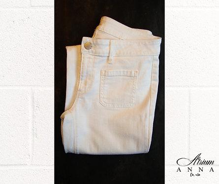 Ann Taylor Loft White Straight Leg Jeans 27/4