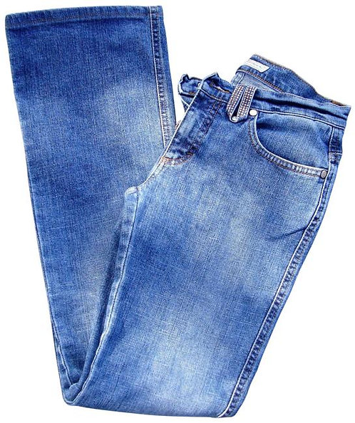 Blumarine Italy 16062 Straigh Leg Crystals/Rhinestones Blue Jeans, I38