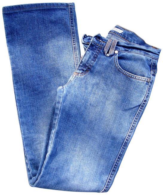 Blumarine Crystals Straight Leg Jeans  by Atrium Anna