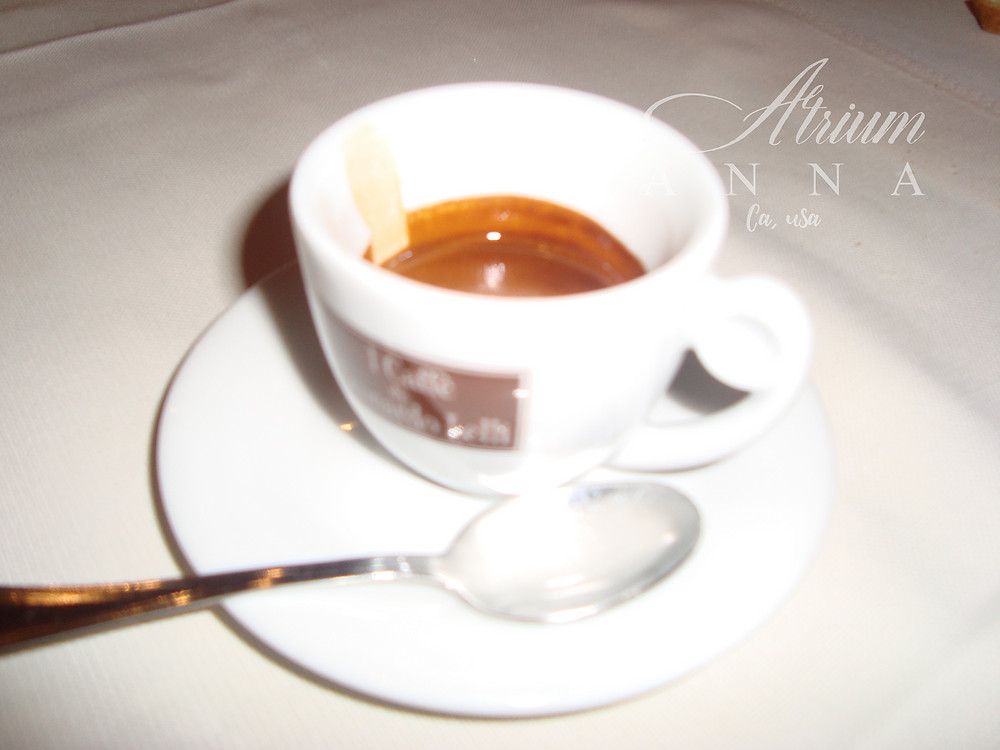 A cup of coffee in Rome.
