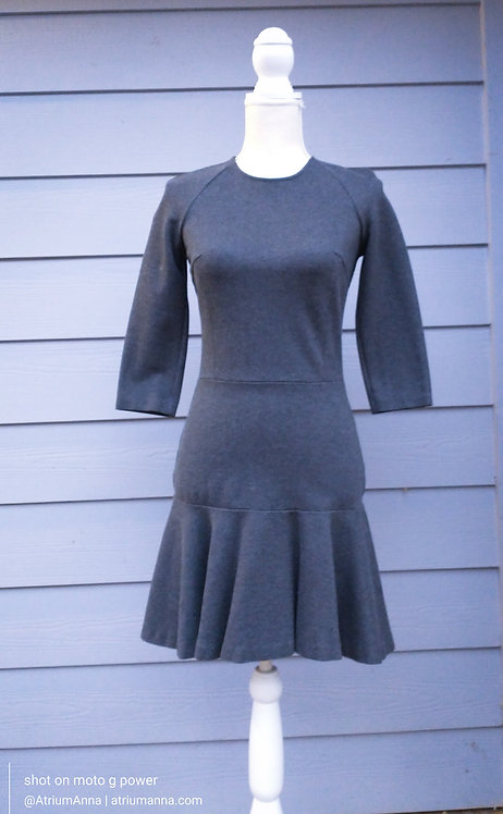 A|X Armani Exchange Elastic Gray Mini Dress, S