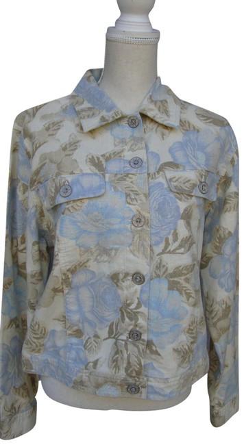 Bill Blass Linen Floral Print Jacket