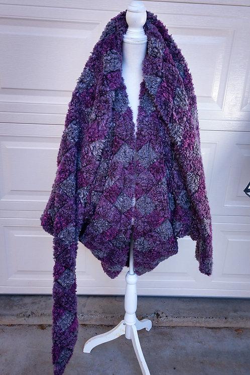 Chimera Collections faux fur purple tunic coat
