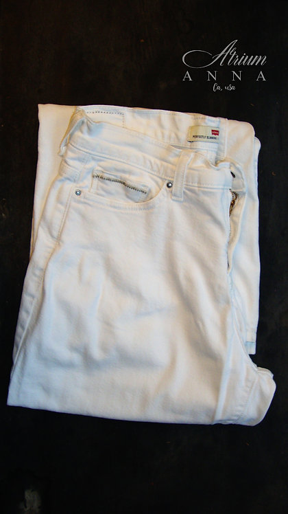 Levi's Perfectly Slimming 512 Bootcut Vintage 90s White Jeans, 29/32