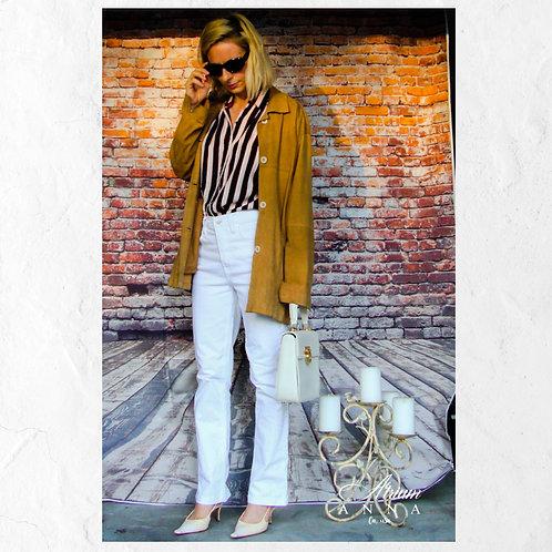Barone Firenze Camel Brown Vintage 70s Suede Jacket