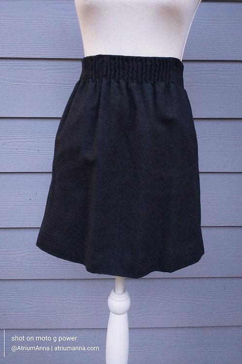 J. Crew Gray Wool Lined Mini Skirt, XS