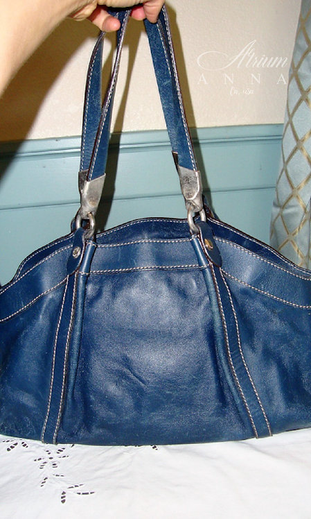Hogan by Tod's Blue Leather Vintage Shoulder Purse