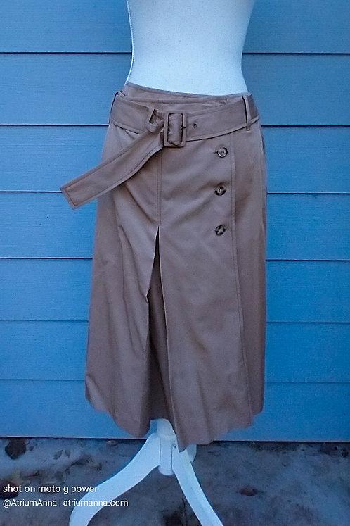 Prada Silk/Cotton Brown Lightweight A-line Skirt, 42