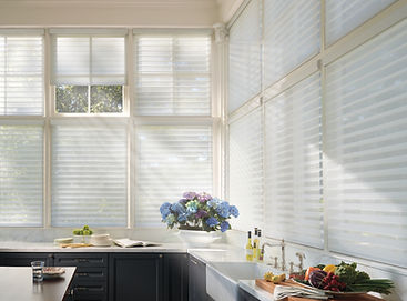 Hunter Douglas Silhouette Window Shadings Carhart Interior Designs Carhart Kitchen and Bath