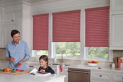 Sonette Cellular Roller Shades Hunter Douglas Carhart Interior Designs Carhart Kitchen & Bath