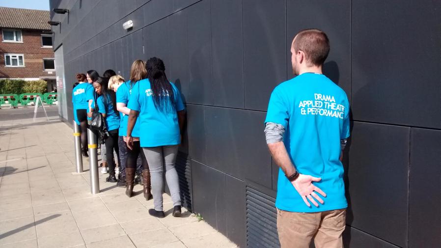 University of East London students walk Marie-Anne Lerjen's Closer walk