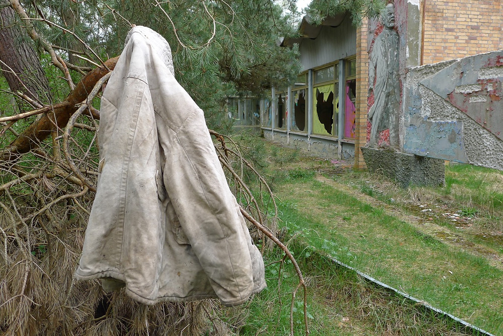 Peter Cusack | Edgework Journal, Decaying Building, Graffiti and Abandoned jacket at Vogelsang