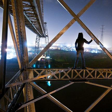 Lucinda Grange ontop of bridge