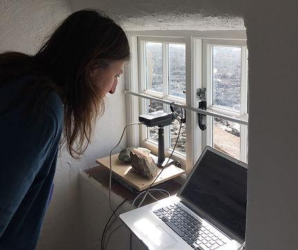 Susan Collins installing network camera
