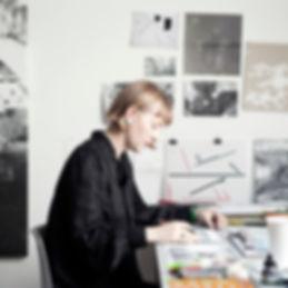 Joy Gerrard in her studio