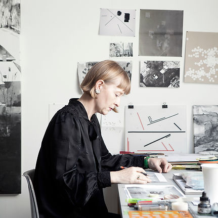 Joy Gerrard in her studio