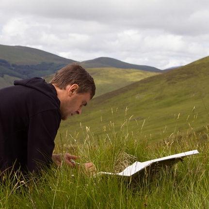 Alec Finlay fieldwork