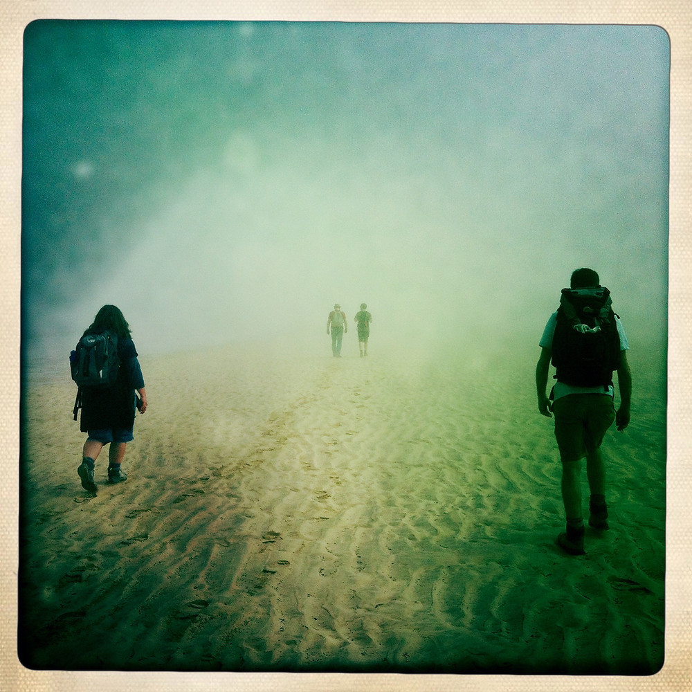 Clare Qualmann and Claire Hind Footwork walk St. Ives Bay