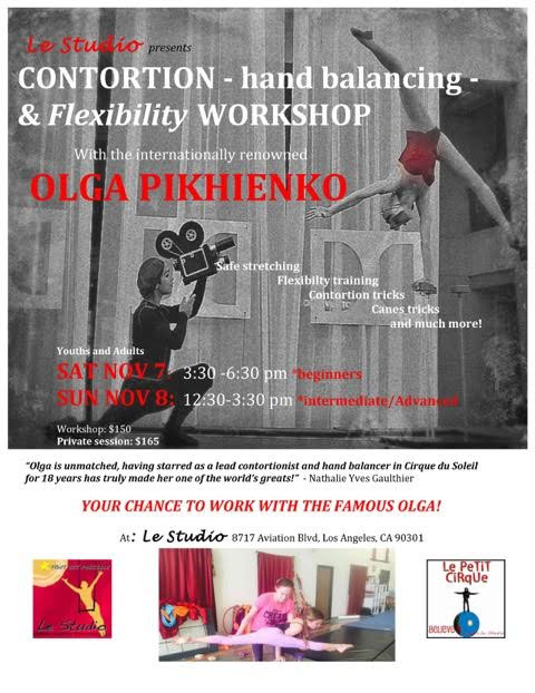 Olga is Back!! Email us to sign up!