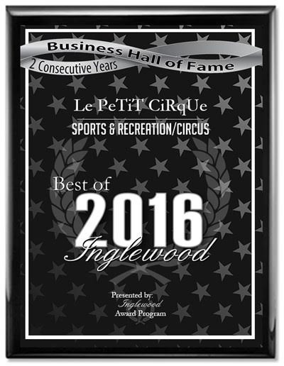 Le Studio/Le PeTiT CiRqUe® named BEST OF INGLEWOOD