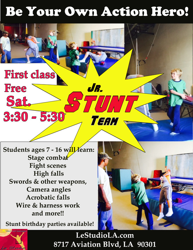 Stunt Classes Moves to Saturdays