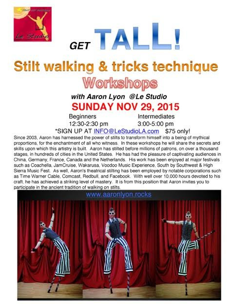 Stilts Workshop!