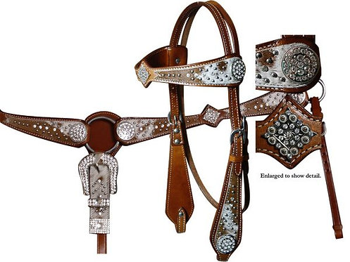 Hair-on Headstall + Breast collar Set