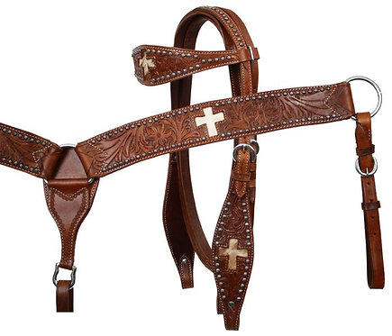 Hair-On Headstall + Breastcollar Set