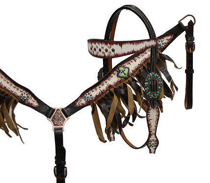 Cross Concho Fringe Set