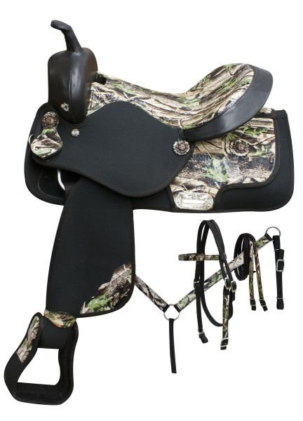 Double T Cordura Saddle Package - Camo