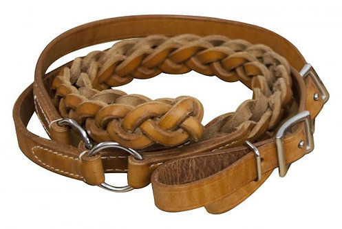 Braided Leather Contest Reins