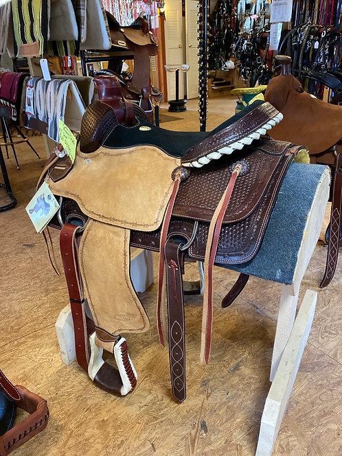 """Roping Saddle 17"""" Seat Full QH Bars"""
