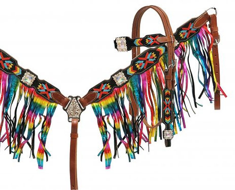 Metallic Rainbow Fringe Set