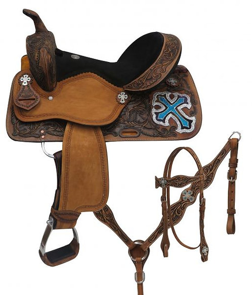 Double T Barrel Saddle Set