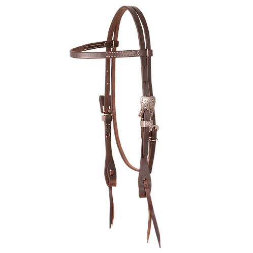 Cowboy  Antique Silver Headstall