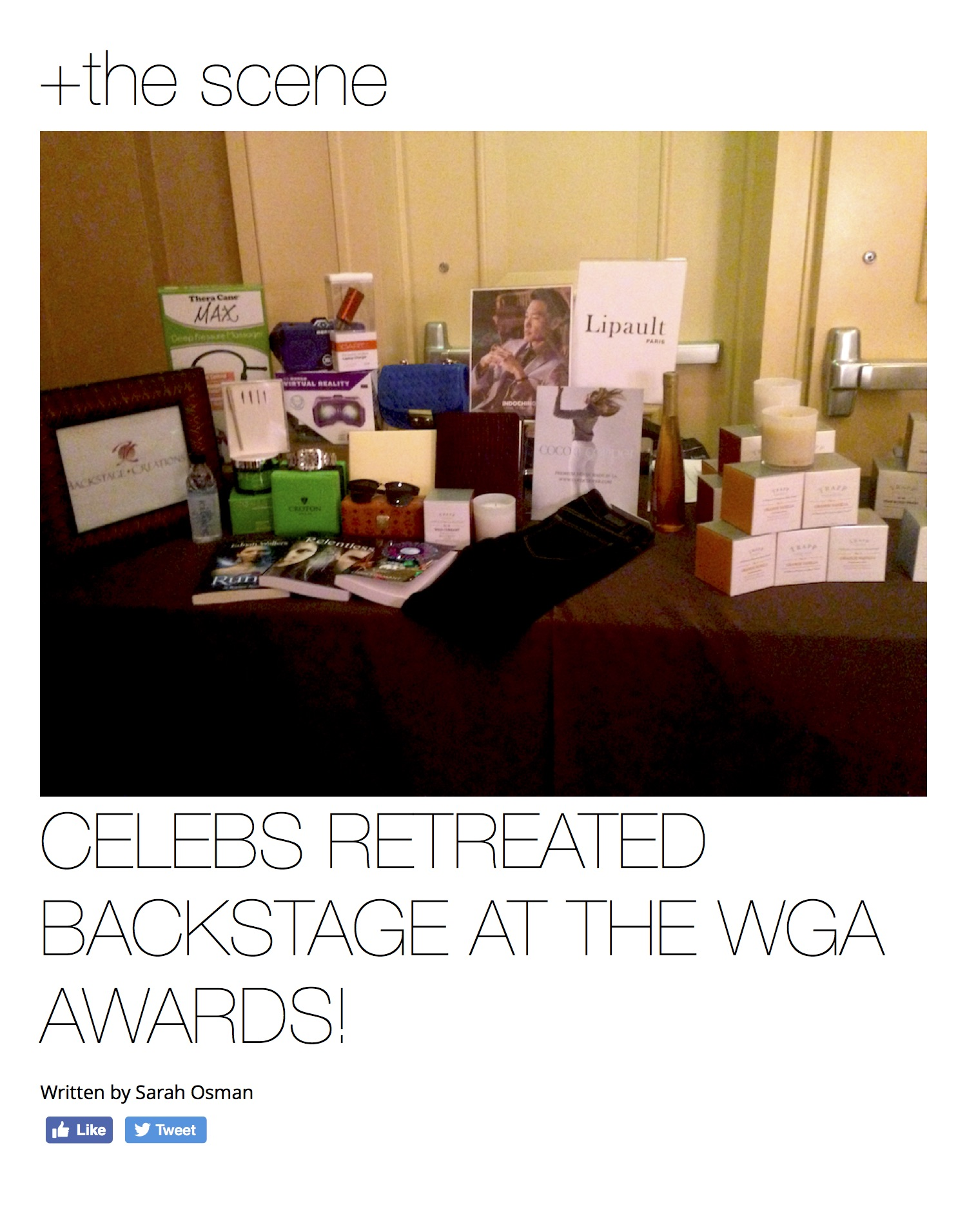 Celebs Retreated Backstage at the WGA Awards! - YOUNG HOLLYWOOD