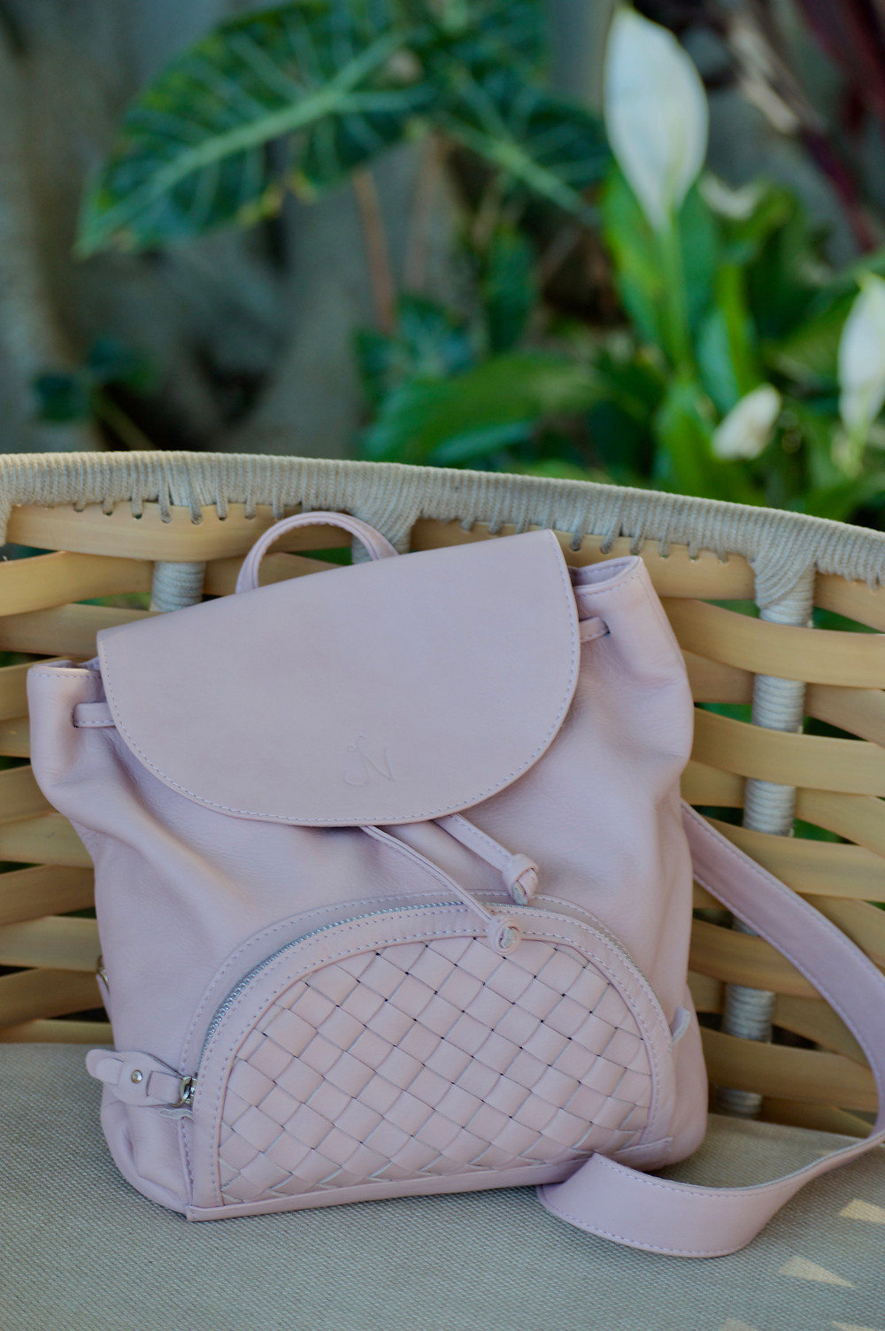 Jennifer Nicole Collection Nora Blush Mini Backpack
