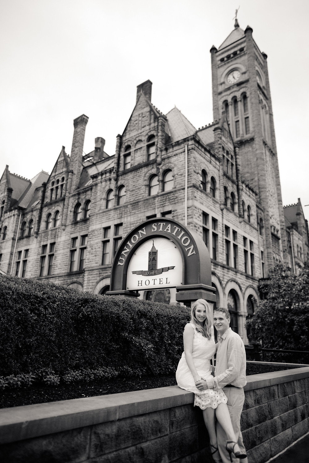 Nashville Union Station Jennifer Nicole Engagement Photoshoot
