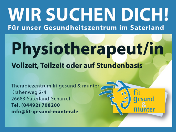 Physiotherapeut/in gesucht!