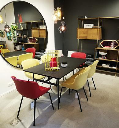 NORMANN COPENHAGEN Union Table+ 4 pcs Hyg Chair Full Upholstery/Camira Synergy