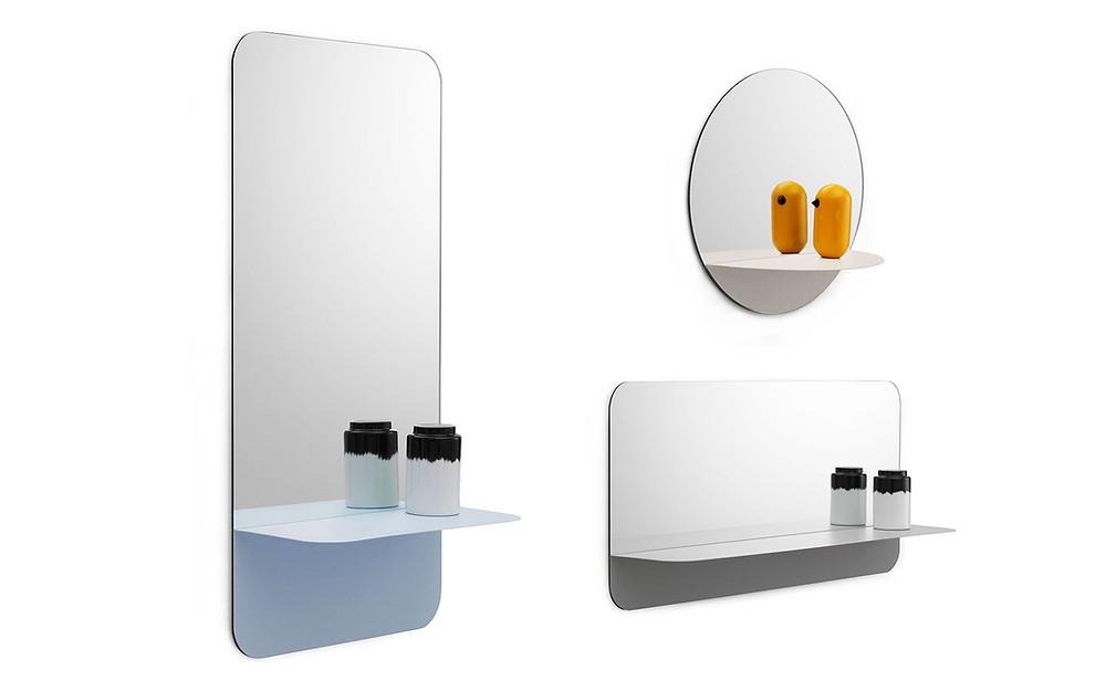 Horizon peeglid riiuliga kolmes erinevas variandis. Sobib nii esikusse kui vannituppa.